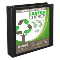 Samsill 16950 Earth's Choice Black Biobased View Binder with 1 1/2 inch D Rings