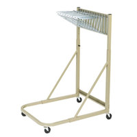Safco 5026 Sand Steel Sheet File Mobile Rack with 12 Hanging Clamp Spaces - 27 inch x 37 1/2 inch x 61 1/2 inch