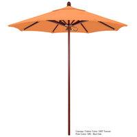 California Umbrella FLEX 758 SUNBRELLA 2A Sierra 7 1/2' Round Push Lift Umbrella with 1 1/2 inch Fiberglass Pole - Sunbrella 2A Canopy
