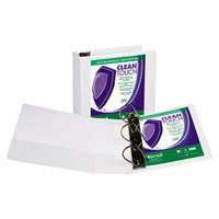 Samsill 16297 Clean Touch White Antimicrobial View Binder with 4 inch D Rings