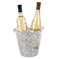 Franmara 9040 Monterey Duo 4.25 Qt. Clear Customizable Acrylic Wine Cooler