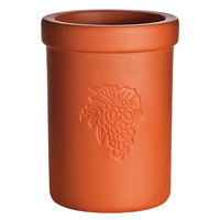 Franmara 9015 Tuscan Customizable 6 1/2 inch Short Terra Cotta Bottle Cooler
