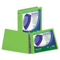 Samsill 17265 Clean Touch Lime Antimicrobial View Binder with 2 inch Round Rings