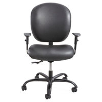 Safco 3391BV Alday Black Intensive Use Padded Vinyl Office Chair