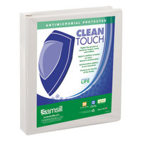 Samsill 18237 Clean Touch White Antimicrobial View Binder with 1 inch Locking Round Rings