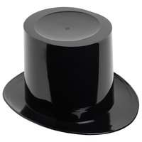 Franmara 9048 5 Qt. Black Customizable Single-Bottle Top Hat Wine Bucket