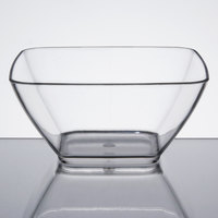 Vollrath V928001 20 oz. Clear Small Square Acrylic Bowl