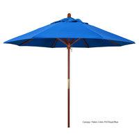 California Umbrella MARE 908 OLEFIN Grove 9' Round Push Lift Umbrella with 1 1/2 inch Hardwood Pole - Olefin Canopy