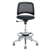 Safco 6820BL Reve Black Mesh Extended Height Office Stool