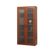 Safco 9443CY Apres 29 3/4 inch x 11 3/4 inch x 59 1/2 inch Cherry Tall Two-Door Cabinet