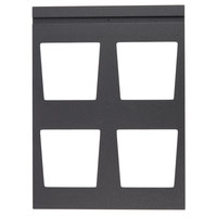 Vollrath V904937 Cubic 4 Bowl Black Wood Display Template