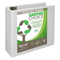Samsill 16997 Earth's Choice White Biobased View Binder with 4 inch D Rings