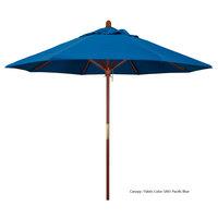 California Umbrella MARE 908 PACIFICA Grove 9' Round Push Lift Umbrella with 1 1/2 inch Hardwood Pole - Pacifica Canopy