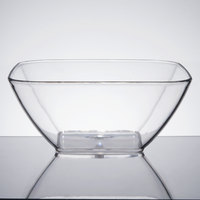 Vollrath V928000 4.25 Qt. Clear Large Square Acrylic Bowl