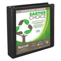 Samsill 18950 Earth's Choice Black Biobased View Binder with 1 1/2 inch Round Rings
