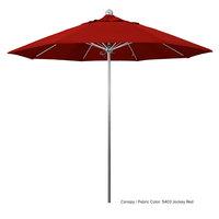 California Umbrella LUXY 908 SUNBRELLA 2A Allure 9' Round Push Lift Umbrella with 1 1/2 inch Stainless Steel Pole - Sunbrella 2A Canopy