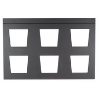 Vollrath V904975 Cubic 6 Bowl Black Wood Display Template
