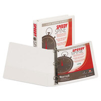 Samsill 19137C Speedy Spine White Heavy-Duty View Binder with 1 inch D Rings