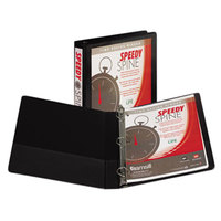 Samsill 19130C Speedy Spine Black Heavy-Duty View Binder with 1 inch D Rings