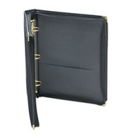 Samsill 15250 Classic Collection Black Zippered Ring Binder with 1 1/2 inch Round Rings