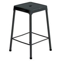 Safco 6605BL Black Counter Height Steel Stool