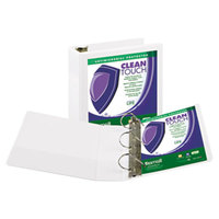 Samsill 16287 Clean Touch White Antimicrobial View Binder with 3 inch D Rings