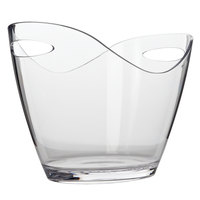Franmara 9076 3.25 Qt. Small Customizable 2-Bottle Clear Acrylic Oval Wine Bucket