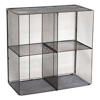 Safco 2172BL Onyx 28 1/2 inch x 14 1/2 inch x 28 1/2 inch Black Mesh Cube