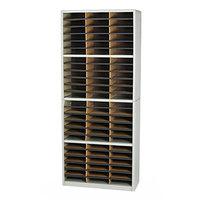 Safco 7131GR Gray 72-Section Steel / Fiberboard File Organizer - 32 1/4 inch x 13 1/2 inch x 75 inch
