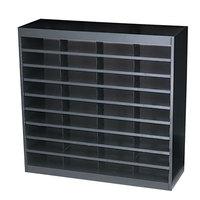 Safco 9221BLR E-Z Stor Black 36-Section Steel / Fiberboard File Organizer - 37 1/2 inch x 12 3/4 inch x 36 1/2 inch