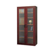 Safco 9443MH Apres 29 3/4 inch x 11 3/4 inch x 59 1/2 inch Mahogany Tall Two-Door Cabinet