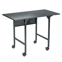 Safco 1876BL Black Mobile Drop Leaf Machine Stand - 36 inch x 18 inch x 26 3/4 inch