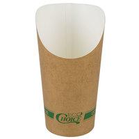 EcoChoice Large 7.5 oz. Kraft Compostable Paper Scoop Cup - 1000/Case