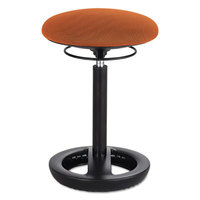 Safco 3000OR Twixt 22 1/2 inch Orange Desk Height Ergonomic Stool with Fabric Seat