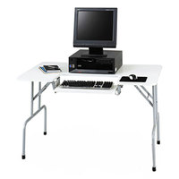 Safco 1935GR 47 1/2 inch x 29 3/4 inch x 28 3/4 inch Light Gray Folding Computer Table