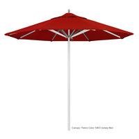 California Umbrella AAT 908 SUNBRELLA 2A Rodeo 9' Round Push Lift Umbrella with 1 1/2 inch Aluminum Pole - Sunbrella 2A Canopy