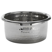 American Metalcraft HMBD 15 oz. Hammered Stainless Steel Round Mini Pan