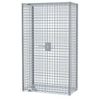 Metro SEC35S-SD Super Erecta Mobile Stainless Steel Security Unit - 21 1/2 inch x 52 3/4 inch x 62 inch