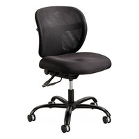 Safco 3397BL Vue Black Intensive Use Mesh Back Task Chair with Padded Seat