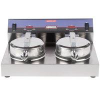 Nemco 7000A-2S SilverStone Non-Stick Dual Waffle Maker - 120V