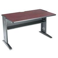 Safco SAF1931 Mahogany / Medium Oak Computer Desk with Reversible Top - 47 1/2 inch x 28 inch x 30 inch