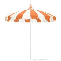 California Umbrella SMPT852PD SUNBRELLA 2A Pagoda 8 1/2' Round Push Lift Umbrella with 1 1/2 inch Aluminum Pole - Sunbrella 2A Canopy