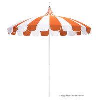 California Umbrella SMPT 852 SUNBRELLA 2 Pagoda 8 1/2' Round Push Lift Umbrella with 1 1/2 inch Aluminum Pole - Sunbrella 2A Canopy