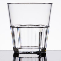 Diamond 8 oz. Clear Polycarbonate Rocks Glass Tumbler - 12/Pack