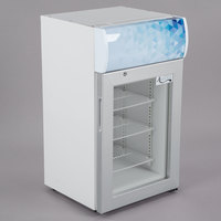 Avantco CFM2LB White Countertop Freezer with Swing Door and Top Lit Header