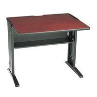 Safco 1930 Mahogany / Medium Oak Computer Desk with Reversible Top - 35 1/2 inch x 28 inch x 30 inch