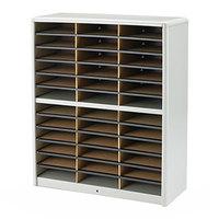 Safco 7121GR Gray 36-Section Steel / Fiberboard File Organizer - 32 1/4 inch x 13 1/2 inch x 38 inch