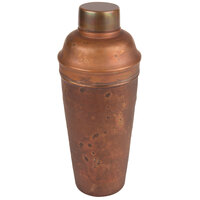 American Metalcraft ACSH 24 oz. Hammered Antique Copper 3-Piece Cobbler Cocktail Shaker