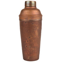 American Metalcraft ACSH 24 oz. Antique Hammered Finish Copper Cocktail Shaker
