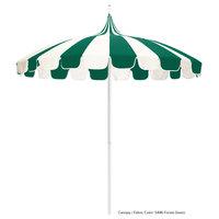 California Umbrella SMPT852PD SUNBRELLA 1A Pagoda 8 1/2' Round Push Lift Umbrella with 1 1/2 inch Aluminum Pole - Sunbrella 1A Canopy